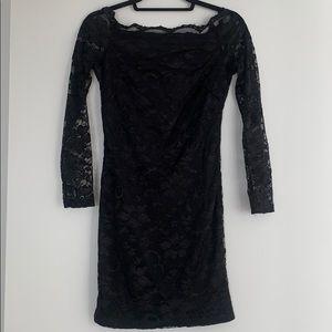 ASOS mini black lace dress